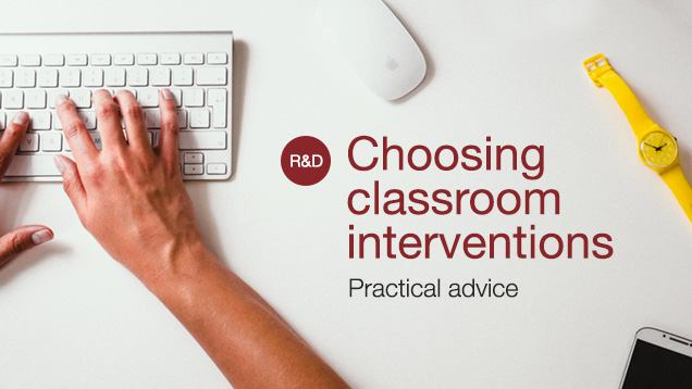 choosing classroom interventions